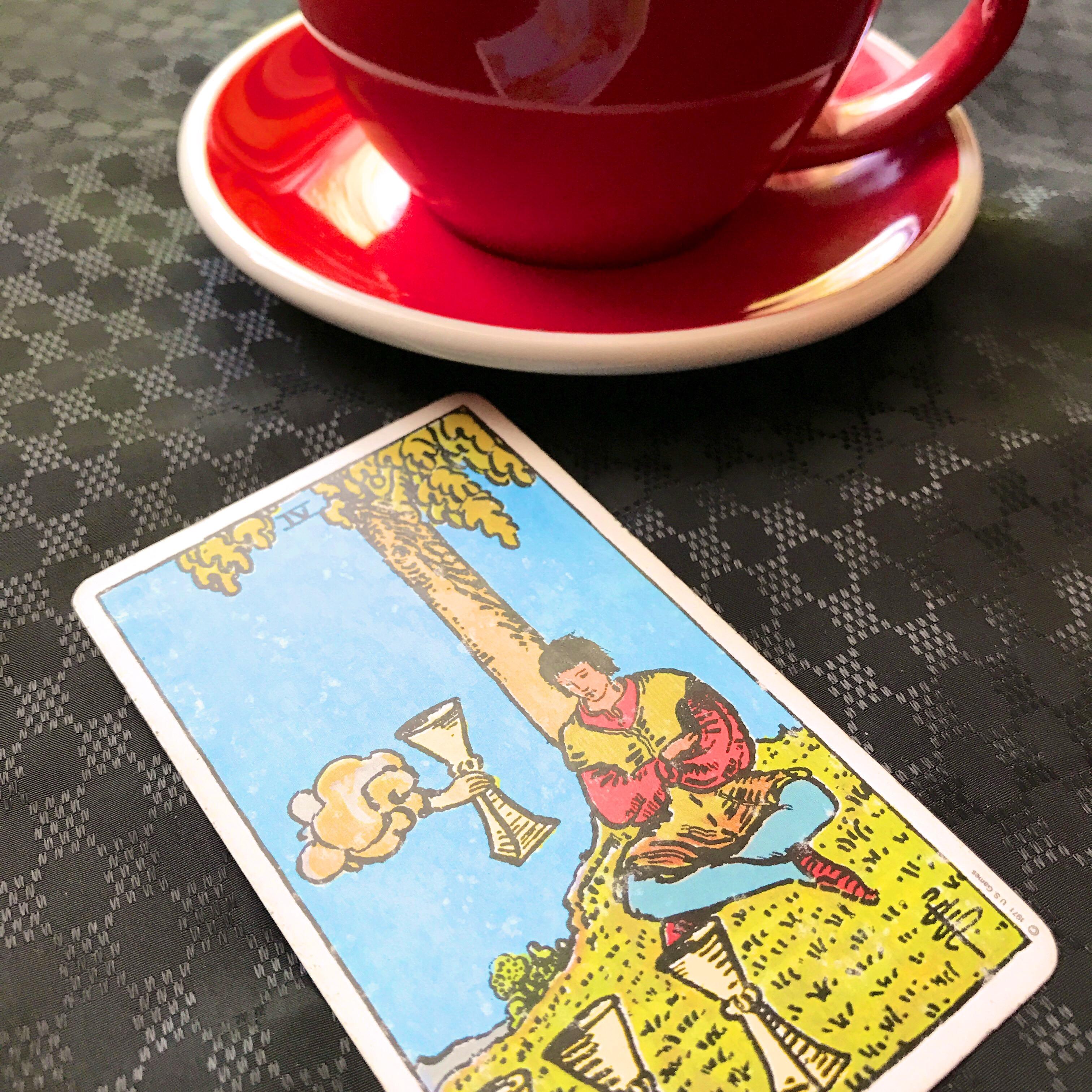 cup of coffee tarot card