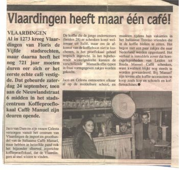 Celesta and Jaco in news paper