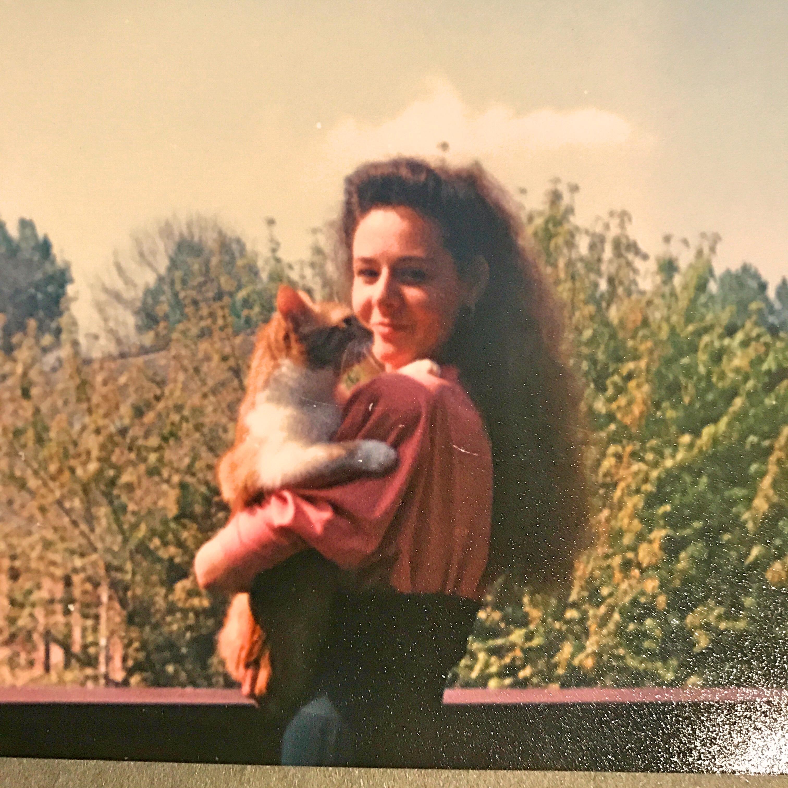 Celesta and Mickey the cat