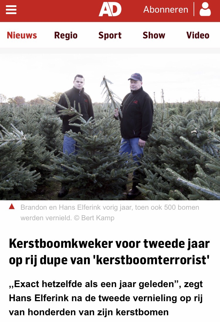 Algemeen Dagblad artikel