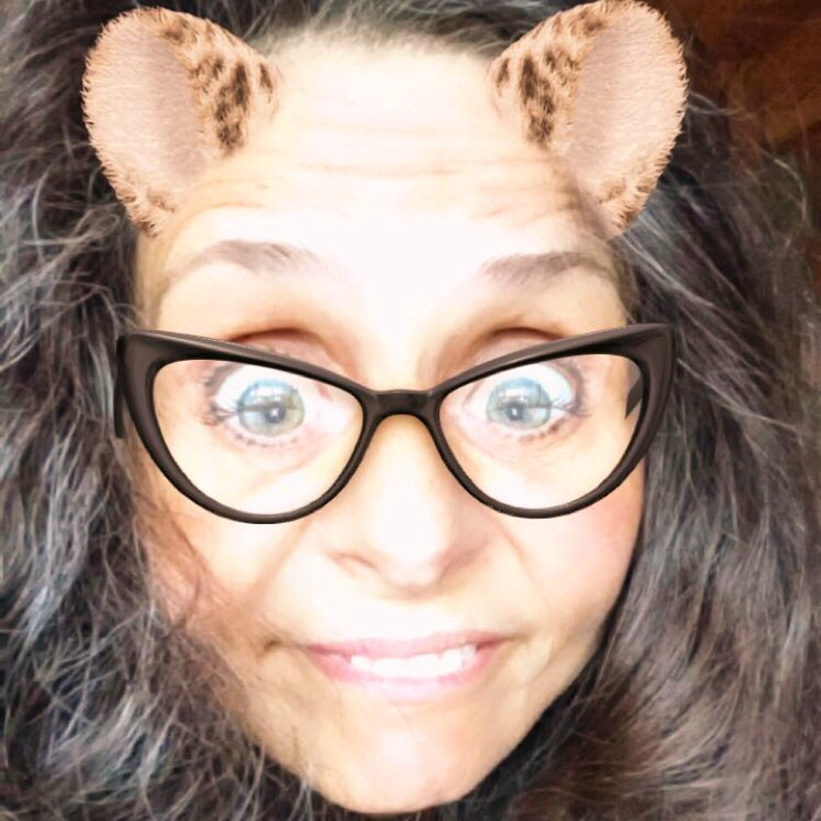 Celesta with snapchat filter